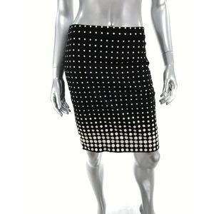 J Crew Factory Size 0 The Pencil Skirt Black White